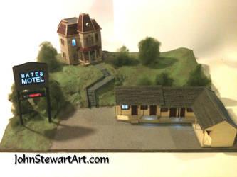 Bates Motel from Psycho Miniature Prototype by johnstewartart