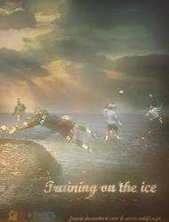 Training on the ice. by Frasio