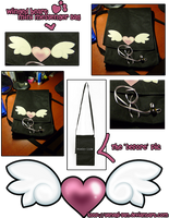 Winged Heart Messenger Bag by yanagi-san