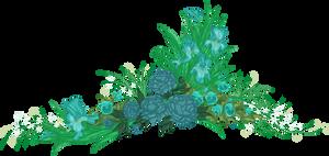 Teal Flowers by yanagi-san