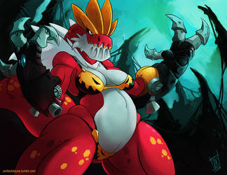 T is for Tyrantrum by ZwitterKitsune