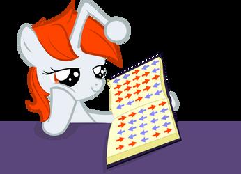 Filly Karma studying by PinkiePi314