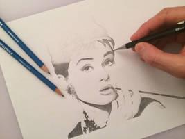 Audrey Hepburn - Work in progress by antoningaunand