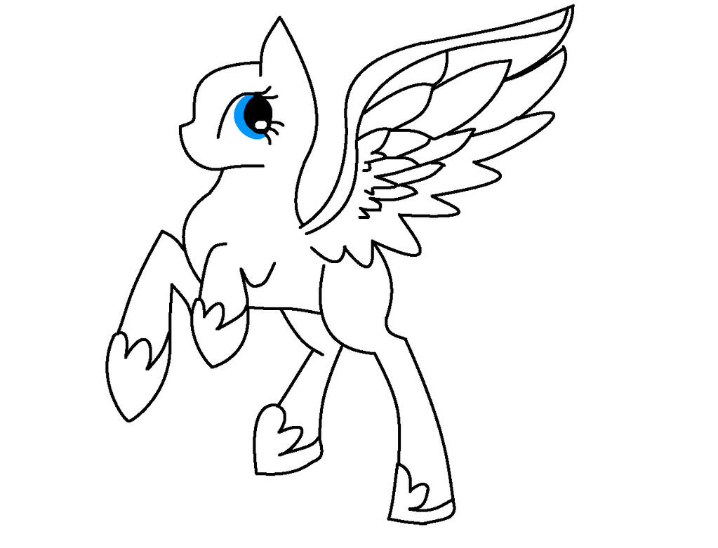 MLP Pegasus Base (MS Paint Friendly) By DaTrollyDerp On