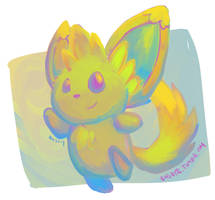 Colorful Minccino by bugbyte