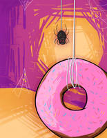 A spider dropped down and gave you a donut by bugbyte