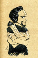 Worf doodle by bugbyte