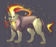 Pyroar by IzaPug