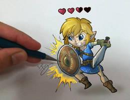 Link vs the artist by IzaPug