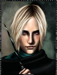 Draco Malfoy card by Patilda