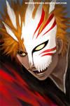 Hollow Ichigo by morbidprince