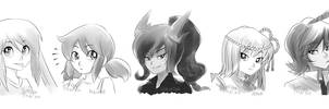 Headshot sketches by SatraThai