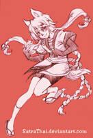 Akemi toned sketch by SatraThai