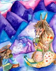 Llama Tea Break by Einde