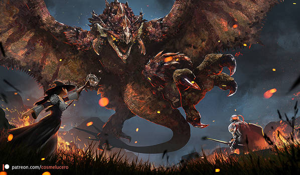 Rathalos, King of the Skies by Aeflus