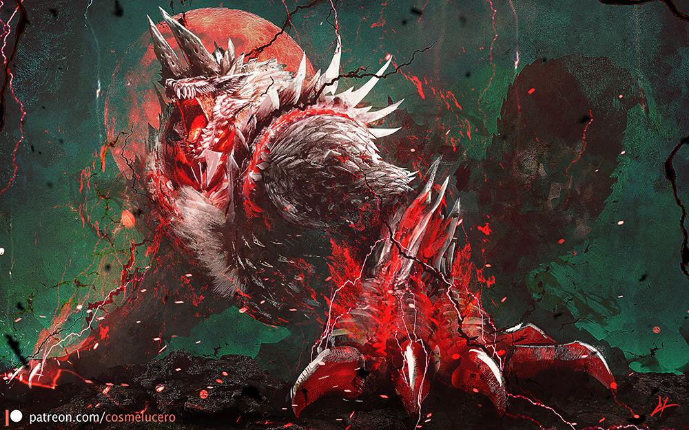 Hell Wolf, Stygian Zinogre by Aeflus