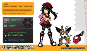 DWC: Akane Himura and Jackalomon by FlyKiwiFly