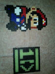 Mario 8-bit and One Direction Symbol by KaedaNiobe