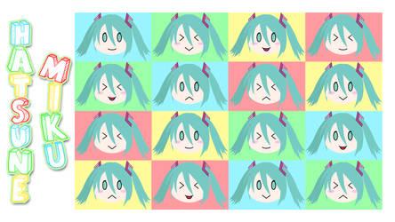 Hatsune Miku Chibi Wallpaper by CrossXAce