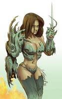 WitchBlade Color by willterrell