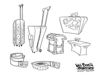 Prop-designs Luggage by willterrell