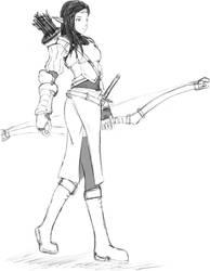 Elf Line Art by DanZelt