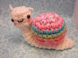 Wee Little Snail Amigurumi by Spudsstitches