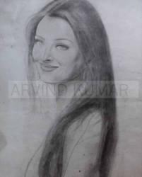 aishwarya rai sketch by airwind080