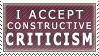 Constructive Criticism :stamp: by kchuu