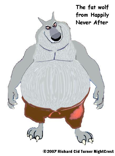Happily Never After Fat Wolf By Nightcrestcomics On Deviantart