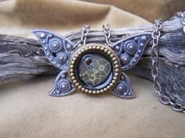 Clockwork Butterfly Necklace by SteamPunkJennie