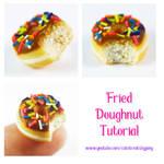 Fried doughnut tutorial by Cutetreatsbyjany