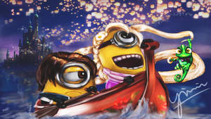 Tangled Minions Despicable Me by ying-min