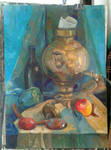 still life with a samovar by zelionka