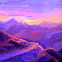 mountains by zelionka