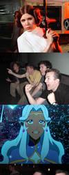 Reaction Guys - Princess Leia vs Princess Allura by KurGuardianz
