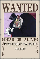 Profesor Ratigan Wanted Poster by JasonPictures