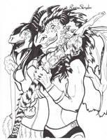 Red Dragon Meets Pyrorin by RegineSkrydon