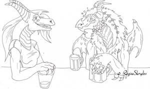 Red Dragon Meets Pyrorin - Bar by RegineSkrydon