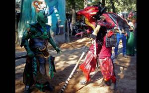 Red Dragon meets Goblin by RegineSkrydon