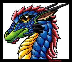 Dragon - baby Portrait by RegineSkrydon