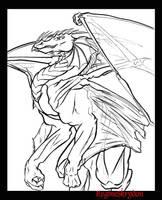 Dragon - Demon Blue by RegineSkrydon