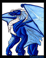 Dragon - Demon BlueC by RegineSkrydon
