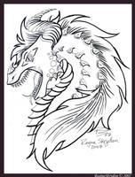 Dragons - Red Dragon Portrait by RegineSkrydon