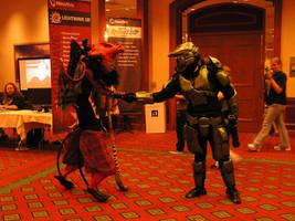 Red Dragon meets Master Chief by RegineSkrydon