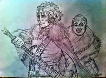 Jon Snow and Sam Tarly sketch by SaisDescendant