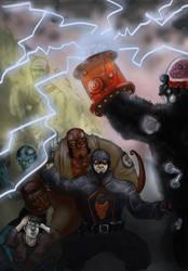 BPRD vs Killergorilla by SaisDescendant