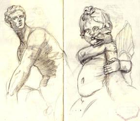 Statue sketches by SaisDescendant