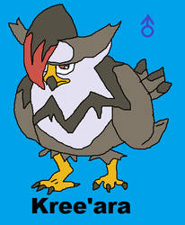 Kree'ara the Staraptor by liamisgreat