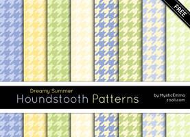 Dreamy Summer Houndstooth Patterns by MysticEmma
